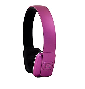 ECHOS Auriculares Audifonos con Bluetooth Wireless Inalambricos Headphones Stereo en PURPURA Purple Lila para Apple iPhone