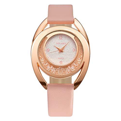Women's Casual Quartz Plastic Leather Band New Strap Watch Analog Wrist WatchWatch C