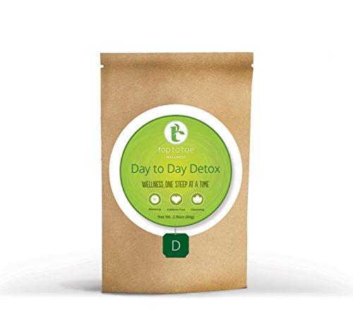 Au jour le jour de Désintoxication du Thé, de la tête aux pieds de bien-être | le Meilleur de 100% Biologiques Et Naturels de Perte de Poids de Thé | Nettoie le Système Digestif, Favorise la Minceur Et Réduit les Ballonnements | Avec le café Décaféiné thé