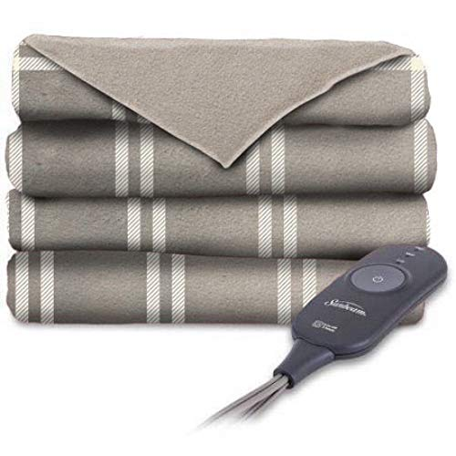 - Sunbeam Heated Throw Blanket | Microplush, 3 Heat Settings, Royal Blue (Sunbeam Microplush Heated Throw, Beige & White)