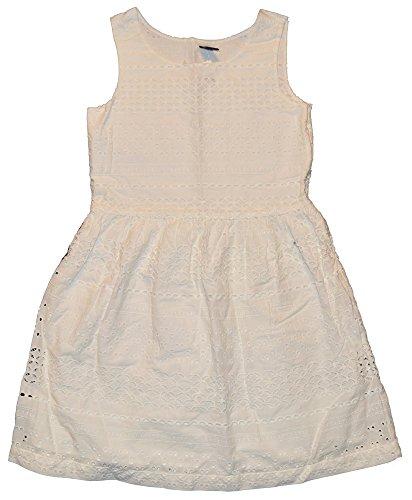 GAP Kids Girls New Off White Eyelet Lined Dress XS 4-5