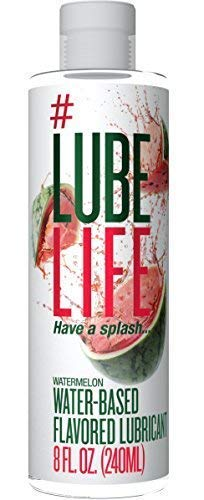 #LubeLife Water Based Watermelon Flavored Lubricant, 8 Ounce Sex Lube for Men, Women and Couples ()