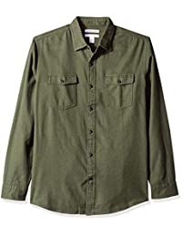 Amazon Essentials - Camisa de franela de manga larga para hombre