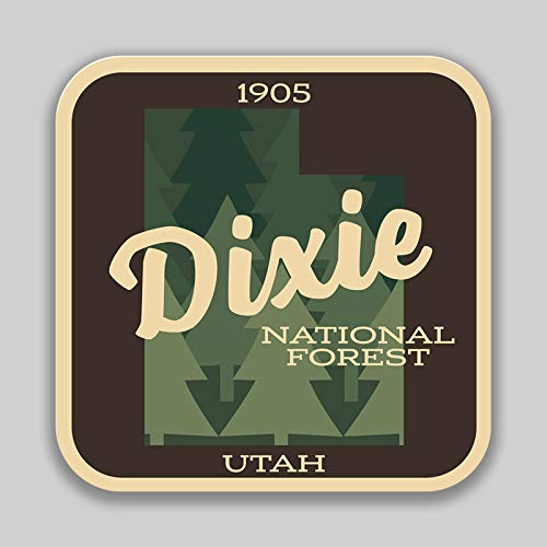 JMM Industries Dixie National Forest Utah Vinyl Decal Sticker Car Window Bumper 2-Pack 4-Inches 4-Inches Premium Quality UV-Protective Laminate ()