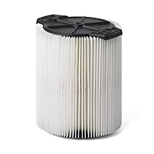 Multi-Fit Wet Dry Vac Filter VF7816 Standard Wet Dry Vacuum Filter (Single Shop Vacuum Cleaner Filter Cartridge) Replaces Red-Stripe Filter For Select Craftsman Shop Vacuum Cleaners 5-Gallon and Larger