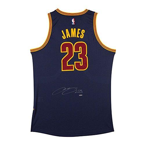 LEBRON JAMES Autographed Cleveland Cavaliers Alternate Blue Authentic Adidas Jersey ()