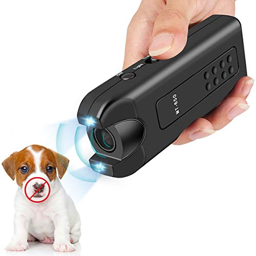 Vitorun Handheld Dog Repellent, Ultrasonic Infrared Dog Deterrent, Bark Stopper + Good Behavior Dog Training