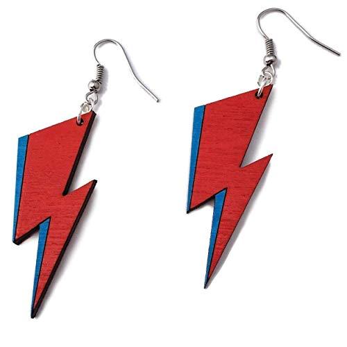Lightning Bolt Dangle Earrings | Rock Star Eco-Friendly Fashion by Telestic Design