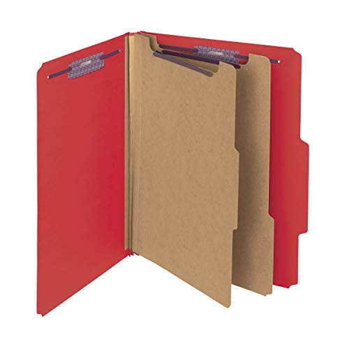 Locker Person Systems 2 - Smead Pressboard Classification File Folder with SafeSHIELD Fasteners, 2 Dividers, 2