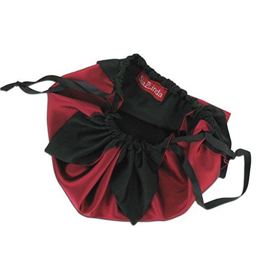 SiaLinda - Cartera de mano con asa para mujer Rojo rot (weinrot)