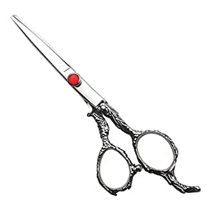 Hairdressing Tool 6-inch Hairdressing Scissors Set, Family Haircut Tools Set Scissors (Color : Silver)