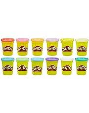Play-Doh – 12 pots de Pate A Modeler - Couleurs Eté - 112 g chacun