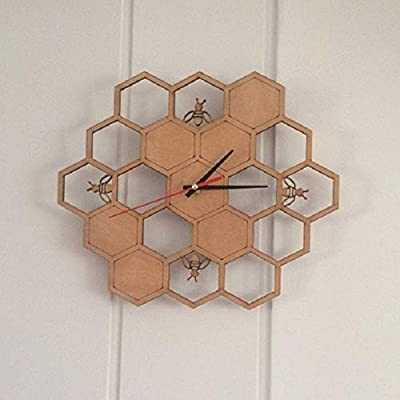 Amazon.com: xushihanjjli Wall Clocks Creative Bamboo/Wood ...