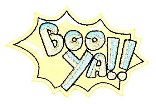 (Boo Ya! Happy Halloween Cartoon Children Kid Patch Clothes Bag T-Shirt Jeans Biker Badge Applique Iron on/Sew On)