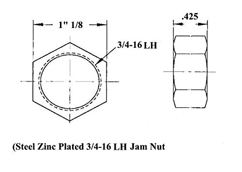 Economy 1//2 x 1//2-20 Panhard Bar Kit 1//2 Steel Cone Spacers .065 Bungs