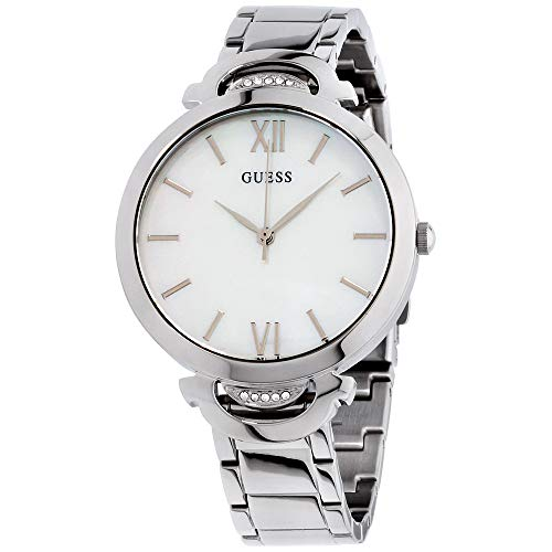 Guess Opal White Dial Stainless Steel Ladies Watch W1090L1