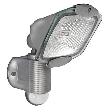 2 x Outdoor PIR Security Lights Floodl& Silver Floodlight with PIR Motion Detector Sensor. Adjustable  sc 1 st  Amazon UK & 2 x Outdoor PIR Security Lights Floodlamp Silver Floodlight with PIR ...