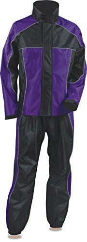 Nexgen Women's Rain Suit (Black/Purple, 4X-Large) by Nexgen