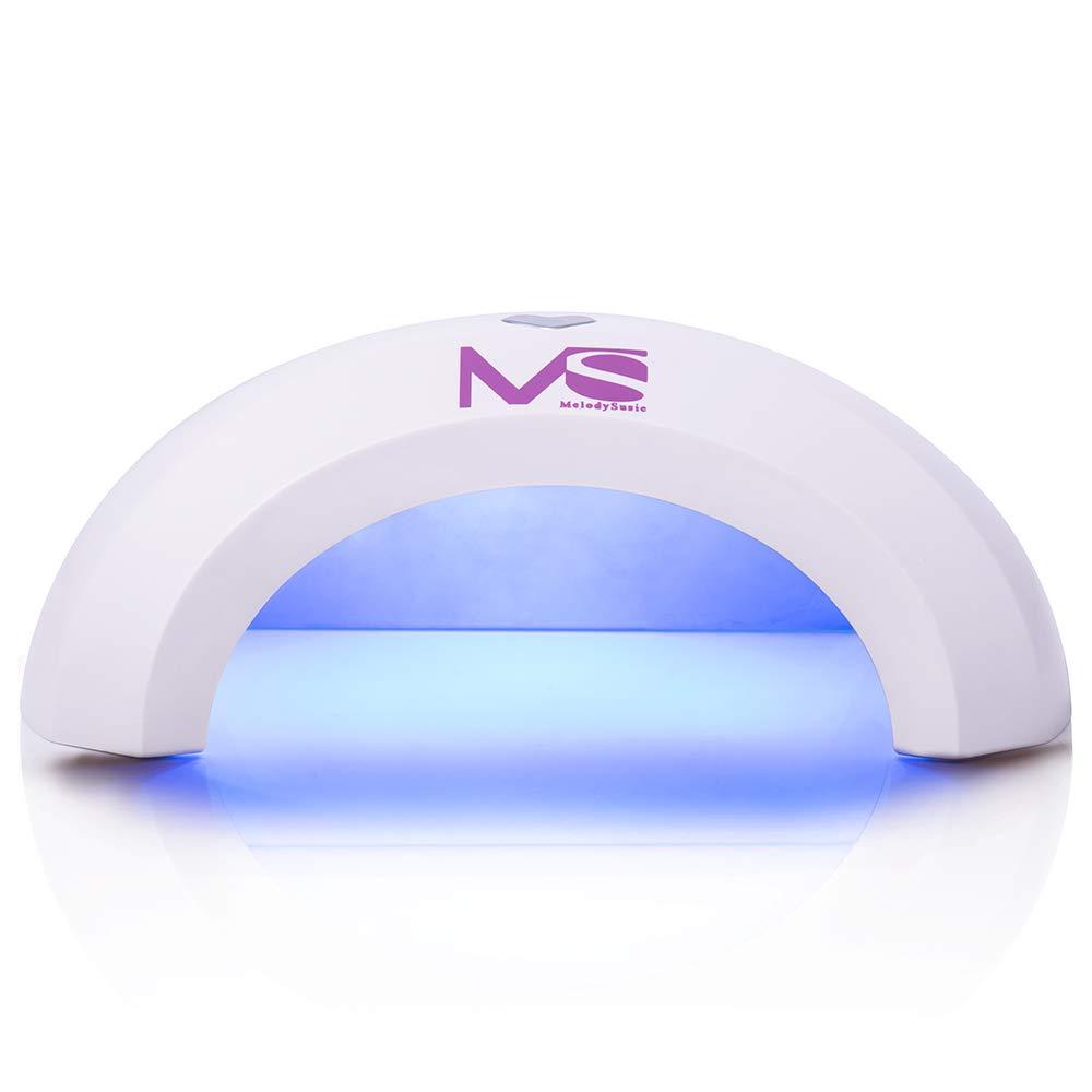 MelodySusie - Lampe à Ongles LED Séchoir Ongles pour Gel LED Portable VIOLETILAC - Noir