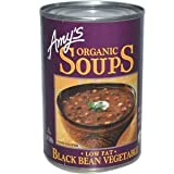 Amy's, Organic Soups, Low Fat Black Bean Vegetable, 14.5 oz (411 g)(Pack of 2)