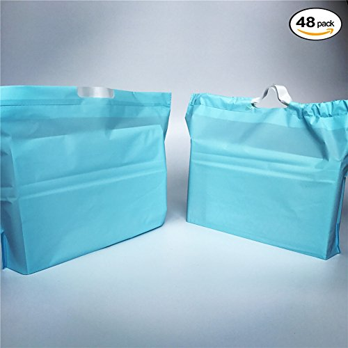 sesco-deluxe-frosted-blue-plastic-drawstring-merchandise-bags-gift-bags-customer-shopping-bags-for-b