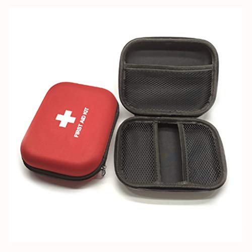 Jipemtra First Aid Hard Case Empty, First Aid Hard Shell Case First Aid EVA Hard Red Medical Case for Home Health First Emergency Responder Empty Camping Outdoor (Red - Hard First Case Aid