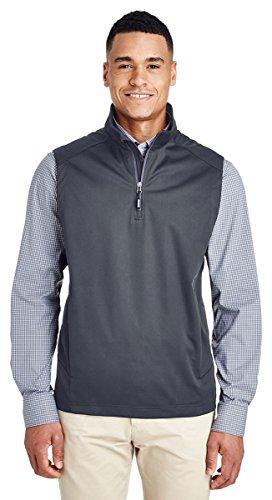 (Ash City - Core 365 Men's Techno Lite Three-Layer Knit Tech-Shell Quarter-Zip Vest, Carbon 456,)