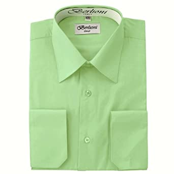 Elegant Men's Button Down Lime Green Dress Shirt at Amazon Men's ...