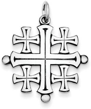 .925 Sterling Silver Jesus Crucifix Charm Pendant 1 1//16 inch 27mm