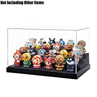 "Odoria Clear Acrylic Display Box Case 9.4"" Long 4 Step Dustproof for Pop Figures Display"