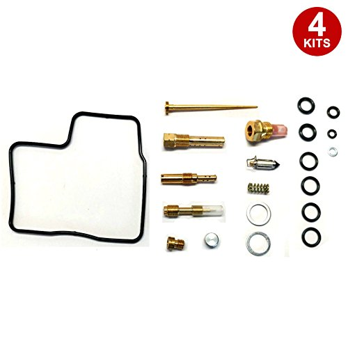 (ALPHA MOTO 4 X Carburetor Carb Repair Rebuild Rebuilt Kits Compatible with Honda GL1200 GL 1200 1984-1987)