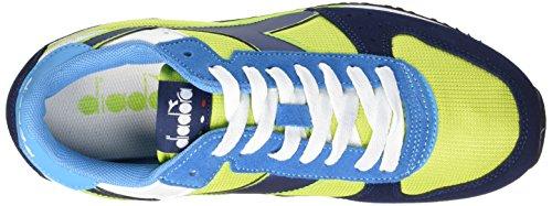 Diadora Malone - Entrenamiento y correr Unisex adulto Multicolore (C6015 Verde Acido/Blu Estate)