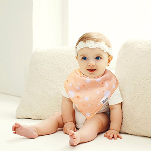 Baby Bandana Drool Bibs 8 Pack for Boys and Girls | 100% Organic Cotton With Adjustable Snaps for Teething, Drooling, Feeding | Absorbent | Soft | Newborn Baby Shower Unisex Gift Set by Jolierre