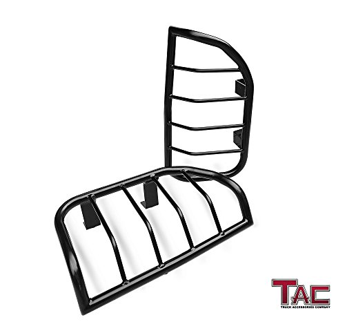 TAC Tail Rear Light Guards Cover Protector for 2005-2014 Nissan Xterra TLG Black Taillight – 1 Pair