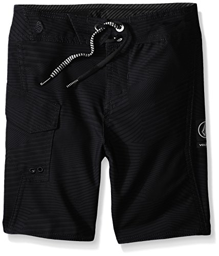 Volcom Little Boys' Toddler Stone Mod Boardshort, Black, 2T (Boys Toddler Boardshort)