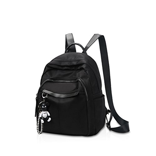 Doris Backpack Embroidery Black Bag Shoulder Classic Pu amp; Woman Backpack Travel School Bag Nicole B B Black Wallet Girls 5gYw1tqx