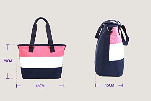 Bolsos de la momia, bolsos de compras de la manera, golpearon el bolso de la momia del color, bolso femenino del hombro, bolso de compras ( Color : Pink ) Rosa Roja