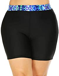 IN'VOLAND Plus Size Swimwear Swim Shorts High Waisted Tankini Capris Bottom