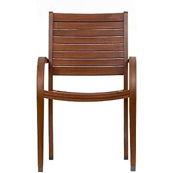 amazon com amazonia arizona 4 piece stacking armchair patio