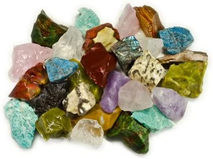 Hypnotic Gems Materials: 3 lbs (Best Value) Hand Bagged 17 Stone Type Madagascar Mix – Natural Raw Stones & Fountain Rocks for Cabbing, Cutting, Lapidary, Tumbling, Polishing & Reiki Crystal Healing