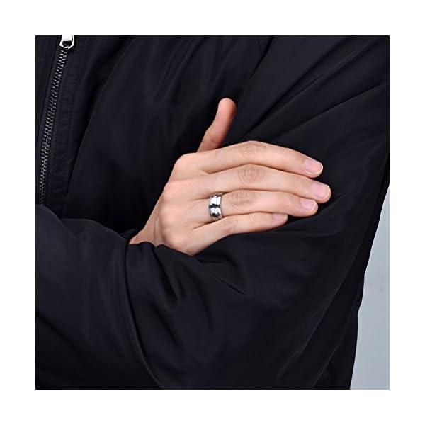 Three Keys Jewelry 8mm Titanium Wedding Ring Brushed Double