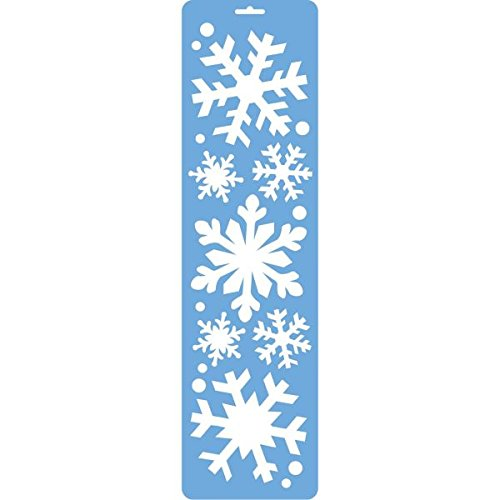 Amscan Winter Wonderland Christmas Party Spray Snow Stencil Decoration (1 Piece), 22
