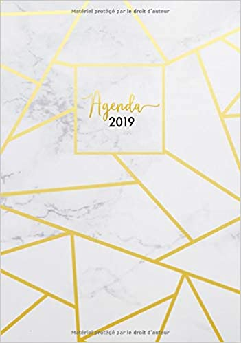 Agenda 2019: Semainier simple & graphique, motif abstrait ...