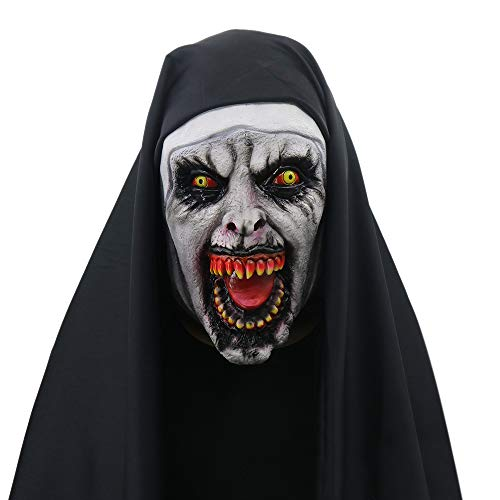 Halloween Purge Cosply Costume Scary The Town Nun Mask (Style C)