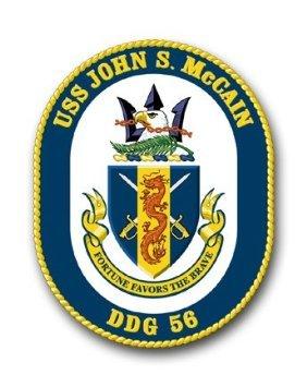 "US Navy Ship USS John S. McCain DDG-56 Decal Sticker 3.8"" 6-Pack"