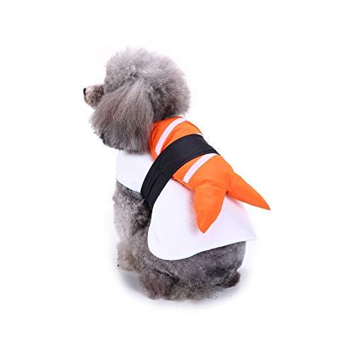 Stock Show Funny Dog Cat Sushi Costume Pet Halloween Christmas Cosplay Dress, Adorable Sushi Pet Costume for Halloween Day Pet Costume ()