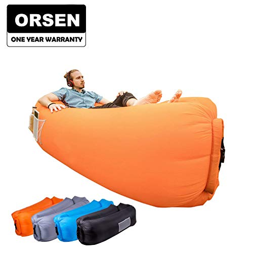 ORSEN Inflatable Lounger Portable Hammock Air Sofa with Water Proof,Anti-Air Leaking Design,Ideal Inflatable Couch and Beach Chair Camping Accessories for Parties - Inflatable Rocker
