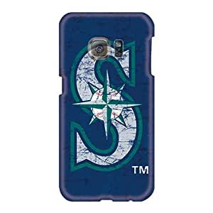 Samsung Galaxy S6 XMr25052MqbO Provide Private Custom Realistic Seattle Mariners Skin Great Hard Cell-phone Case -JohnPrimeauMaurice