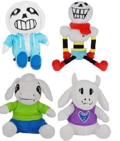 YOYOTOY Undertale Set of 4 Cute Papyrus Toriel and Asriel Plush Stuffed Doll Toy 20Cm~40Cm Animals Doll Toys for Kids Birthday CHRI Cool Must Haves Gift Basket Girl S Favourite 5T Superhero Girls by YOYOTOY