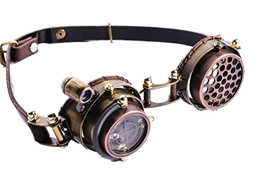 Steampunk revolution cosplay aethertech steel calvary LED light pilot goggles SP071 C - Old Fashioned Pilot Goggles
